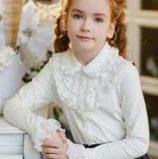 Современные блузки для маленьких модниц